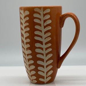 Pier 1 mug brown coffee tea cup venlo hand painted